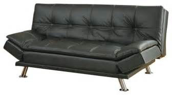 metal leg faux leather sofa bed futon black not include
