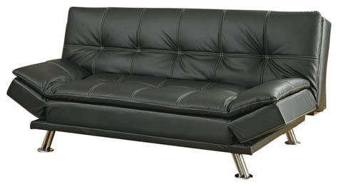 A Futon by Metal Leg Faux Leather Sofa Bed Futon Black Not Include