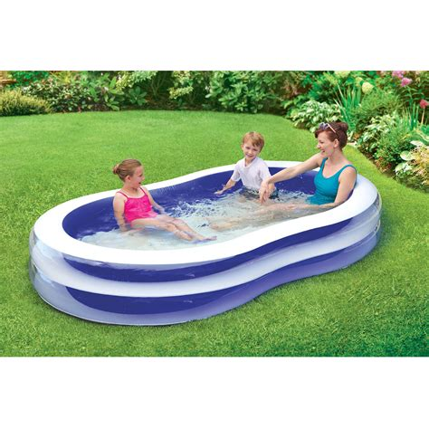 backyard kid pools 103 quot transparent family pool inflatable summer kids