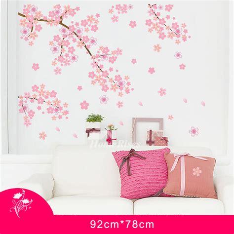 cherry home decor cherry blossom wall stickers home decor self adhesive romantic