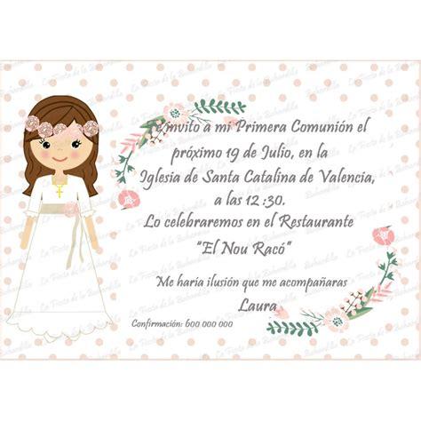 invitacion de primera comunion dibujo invitaci 243 n comuni 243 n ni 241 a flores
