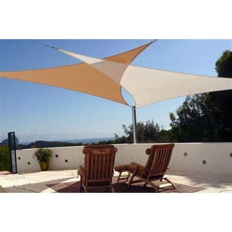 vele per giardino vele ombreggianti triangolari da giardino in poliestere beige