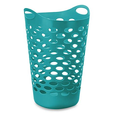 Starplast Tall Flex Laundry Basket Teal Bed Bath Beyond Teal Laundry
