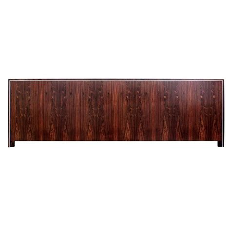how wide is a size headboard wide king size headboard in rosewood and chrome for sale at 1stdibs
