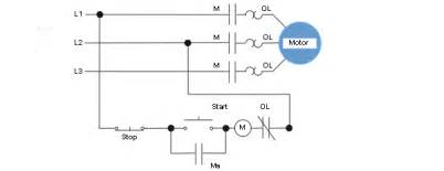 3 wire start stop circuit