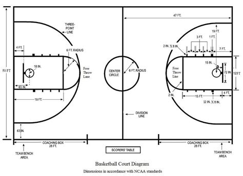 basketball measurements basketball court diagram diagram site