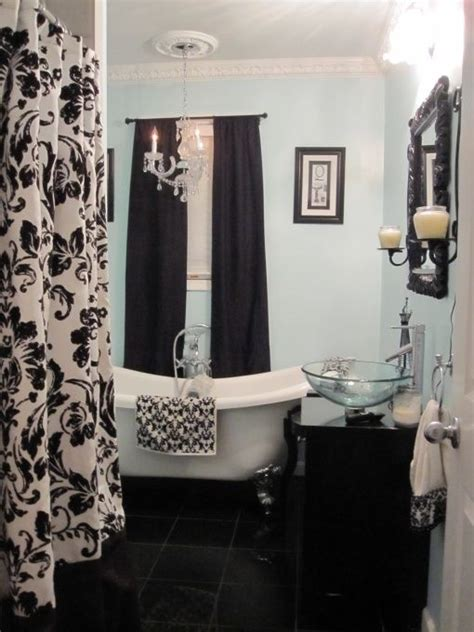 damask bathroom shabby chic bathroom but with pink powder room