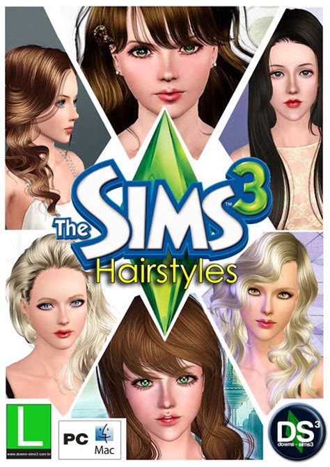 the sims 3 hairstyles and their expansion pack mundo dos sims pack de roupas cabelos maquiagens etc