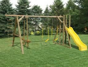 Wooden Swing Sets Mr Shed Wood Swing Sets
