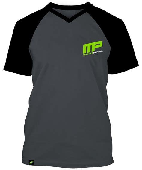 Jaket Suplemen Mp Musclepharm Apparel musclepharm mp baseball v neck raglan t shirt gray black