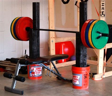 how to make your own bench press homemade squat and bench press stand