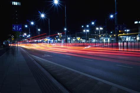 picture street light asphalt speed lines