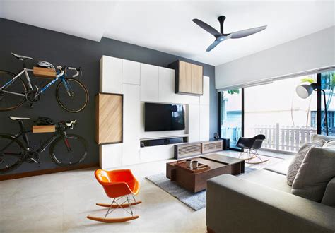 Living Room Wallpaper Singapore 6 Ways To Show Your Bicycle At Home And Save Space
