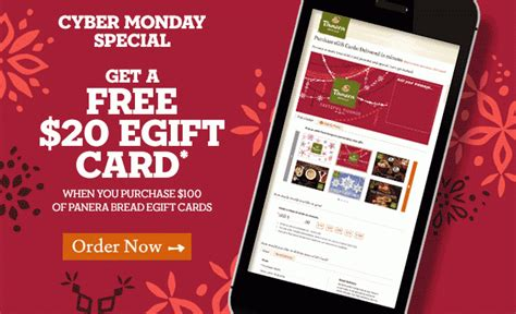 Panera E Gift Card - buy 100 in panera e gift cards get a free 20 e gift today only shopportunist