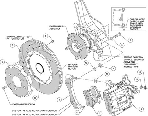diagram of brake caliper assembly wilwood cpb rear brake kit 11 00 quot black drilled civic