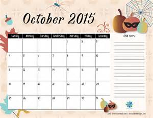Calendar Of October Free Printable Calendar October 2015 S Notebook