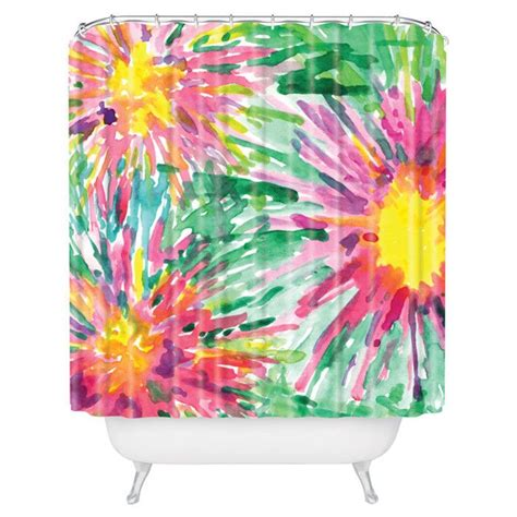 bright floral shower curtain bright floral confetti shower curtain for the home