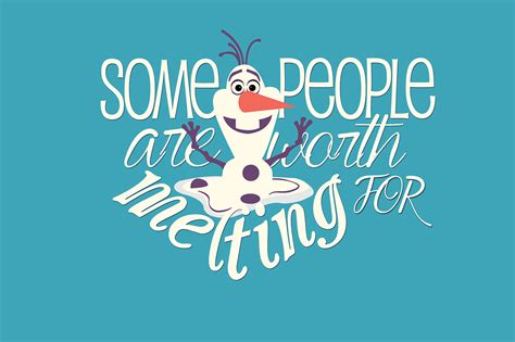 frozen wallpaper with quotes frozen some people are worth melting for on behance