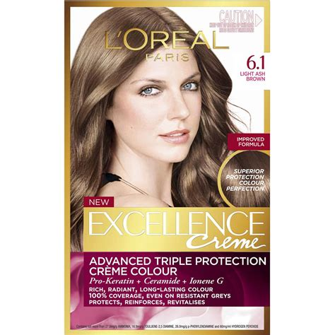 l oreal excellence creme 6 light brown hair colour ebay l oreal excellence cr 232 me 6 1 light ash brown 1pk woolworths