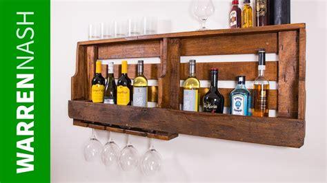 pallet wine rack  glass holder   day easy