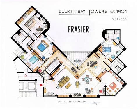 seinfeld apartment floor plan floor plans from some of your favorite television show s