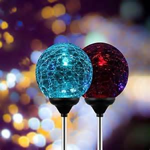 solar light decorations esky sl75 glass globe color changing led solar