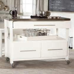 White Kitchen Island Cart Concord Kitchen Island White Modern Kitchen Islands And Kitchen Carts Other Metro By