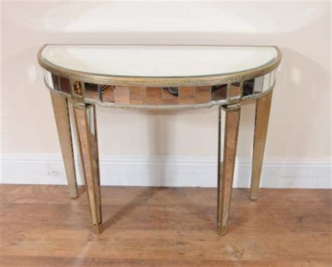 Mirrored Console Table Next Deco Mirrored Console Table Demi Lune Tables Deco Mirrored Furniture