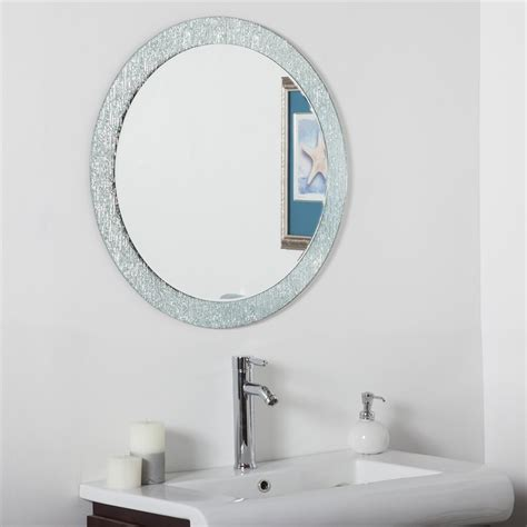 Decor Wonderland Ssm5005 3 Molten Round Bathroom Mirror Lowes Mirrors Bathroom