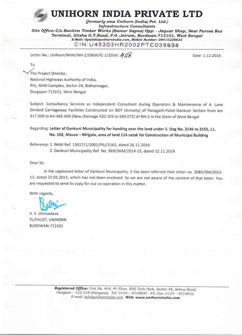 noc letter format for handover noc letter format for handover new construction project