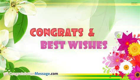 congrats and best wishes congratulationmessage com