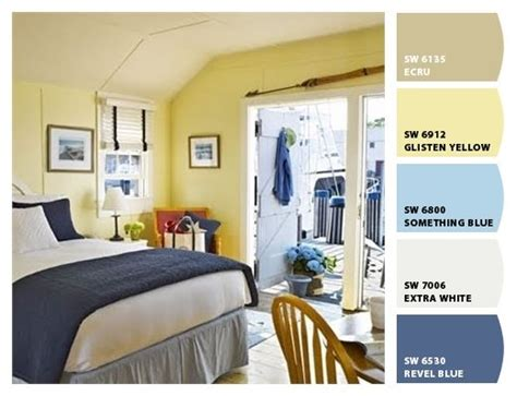blue yellow cottage interior paint colors from chip it by sherwin williams palettes of