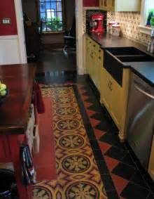awesome Floor Tile Paint For Kitchens #1: floor-kitchen-mexican.jpg