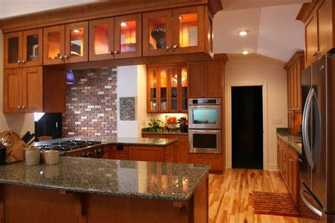 Amish Kitchen Cabinets by Kitchen Remodel Lighted Cabinets By Creative Abundance In