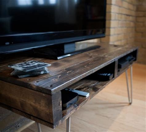 diy tv bench pallet media stand and console table wooden pallet furniture