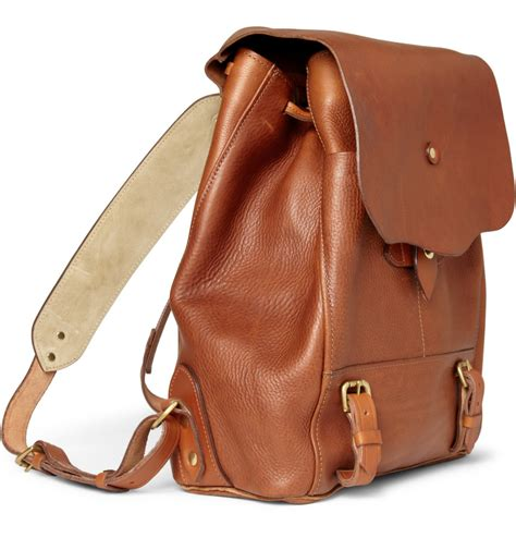 leather backpack bill amberg grain leather backpack s bags
