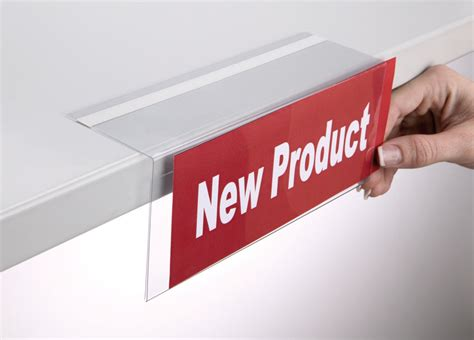 shelf talker right angled adhesive return