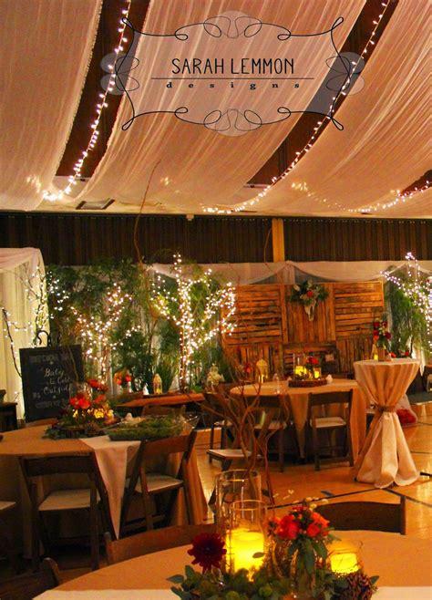 rustic woodland wedding reception lds cultural hall