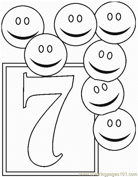 free printable coloring pages no downloading numbers 7 coloring pages 7 coloring page free