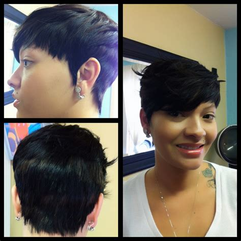 weaves for pixie cuts quick weave www anotherlookhairsalon com stylist felicia