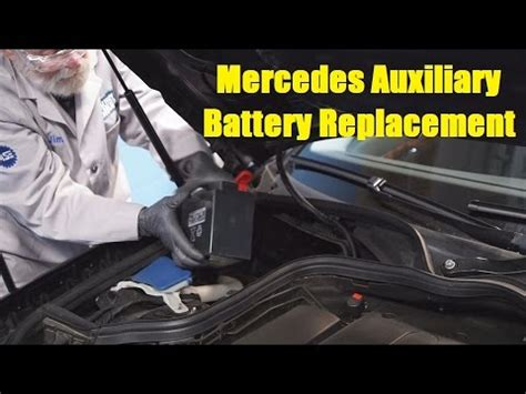 accident recorder 2011 mercedes benz sl class spare parts catalogs mercedes auxiliary battery replacement the battery shop youtube
