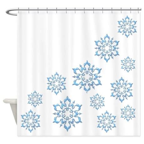 snowflake shower curtain icy blue snowflakes shower curtain by admin cp3010125