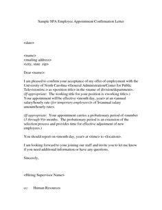 Confirmation Letter To Vendors 1000 Images About Appointment Letters On Letter Sle Letters And School