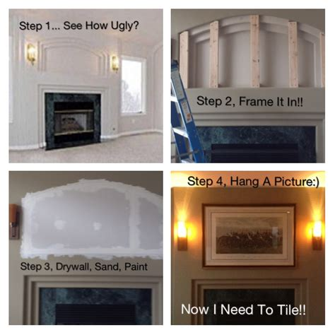 build a fireplace in your kitchen 14 jpg kitchens hometalk fireplace redo build your own mantel