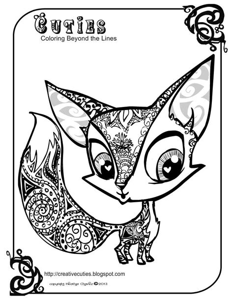 christmas fox coloring page fox coloring page az coloring pages