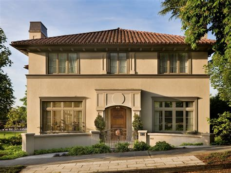 Mission Style Decorating Renaissance Revival Residence Traditional Exterior