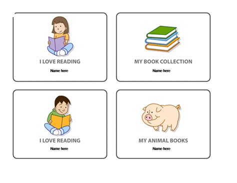 custom reading bookplate template microsoft word