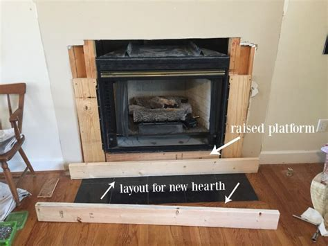 diy fireplace hearth diy fireplace makeover at home with the barkers