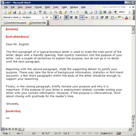 word email template business letter email template the best letter sle