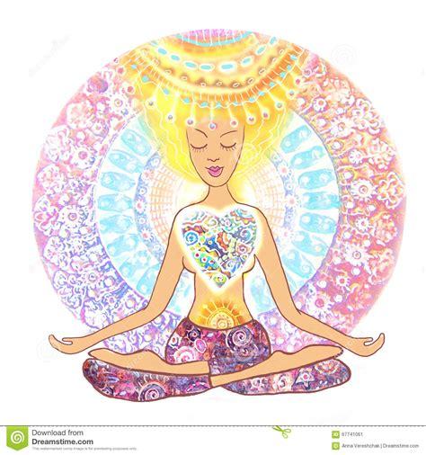 imagenes mandalas yoga yoga practicante de la mujer mujer dibujada mano que se